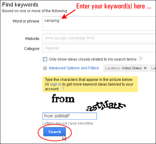 How To Do Keyword Research On Google Keyword Tool