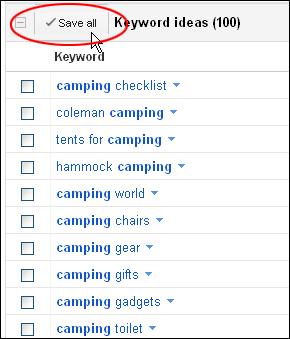 Using The Google Keyword Tool