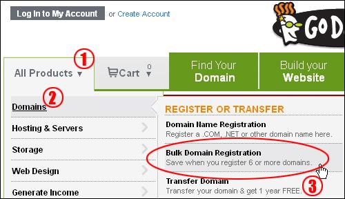 Domain Name Bulk Registration Tool