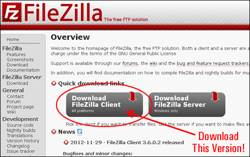 Filezilla - Free FTP Software
