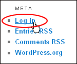 WordPress Meta Login Section