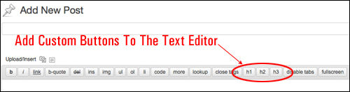 Adding Custom Buttons To The WP Text Editor