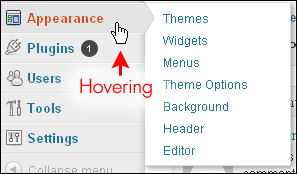 WordPress Navigation Menu