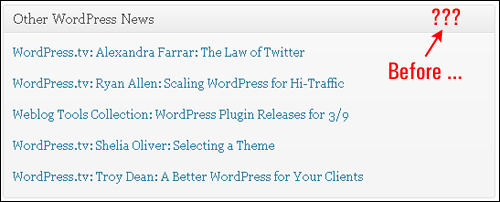 WordPress Site Administration Area