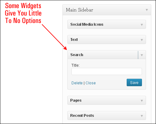 Using WordPress Widgets
